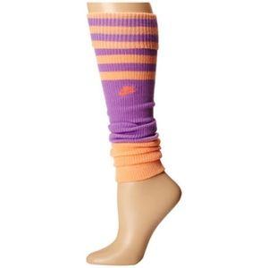 Orange and Purple Nike Leg Warmers